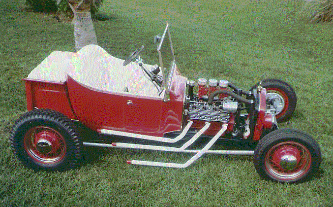 Flathead powered, traditional T-Bucket built by Chester Greenhalgh