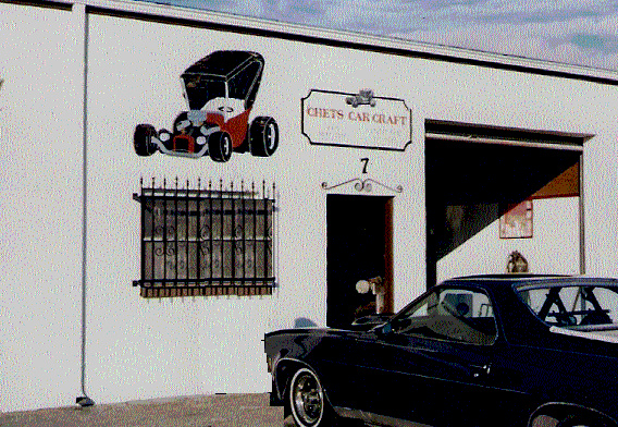 Chet's Car Craft, where Chester Greenhalgh built T-Bucket hot rods