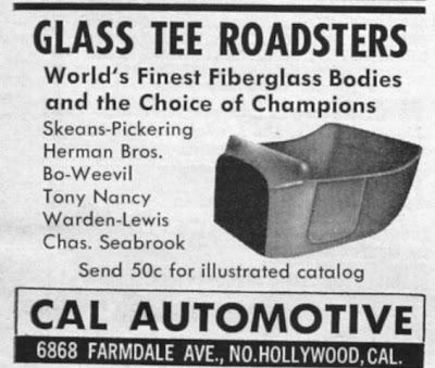 Cal Automotive fiberglass T Bucket body