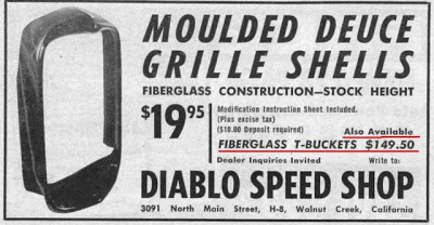 Diablo Speed Shop Aug 1957 fiberglass t bucket body