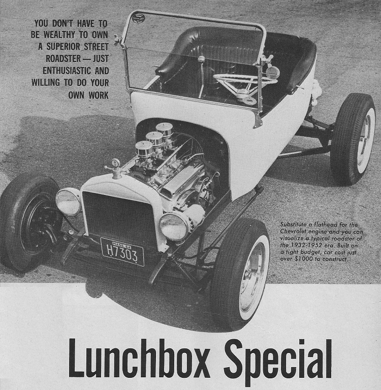 Fred Steele Roadster T-Bucket Popular Hot Rodding February 1966