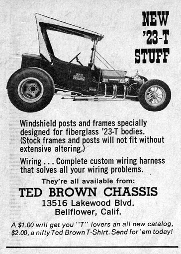 Ted Brown Chassis T Bucket ad