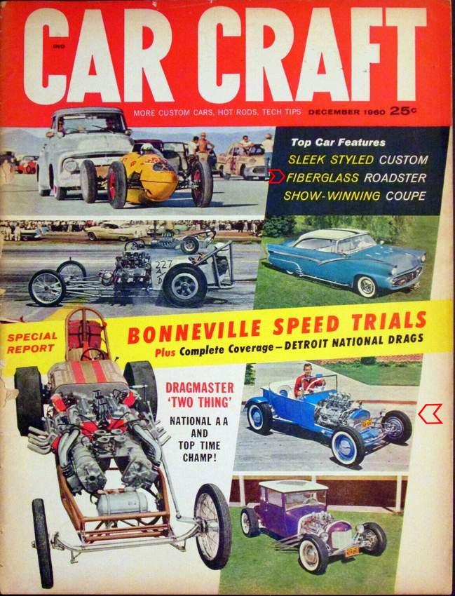 Buzz Pitzen T-Bucket Car Craft December 1960