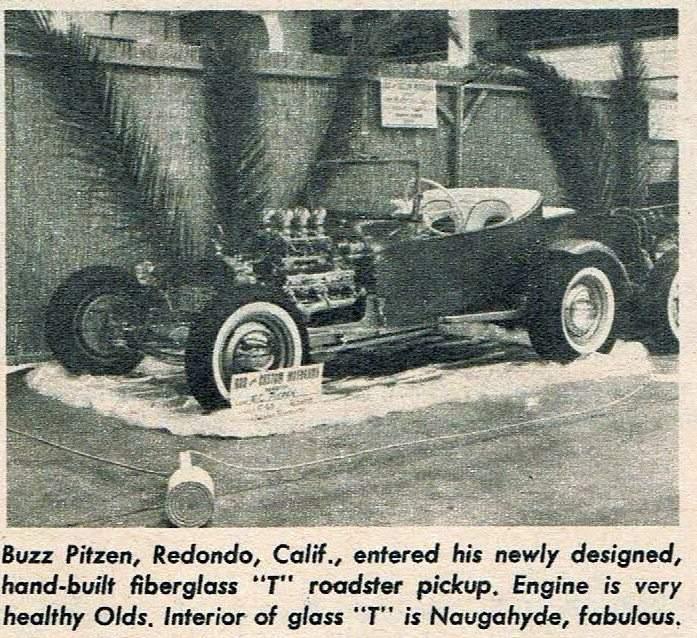 Buzz Pitzen T-Bucket Car Craft November 1960