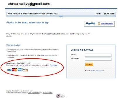 how to use paypal without an account