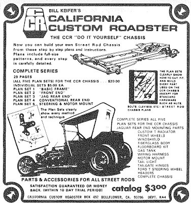 California Custom Roadsters T-Bucket Plans ad