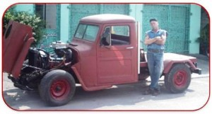 Hot Rod Rat Rod Pickup Truck by Chester Greenhalgh