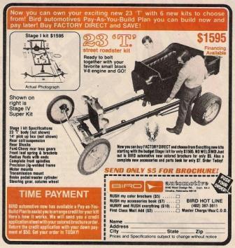 Bird Automotive T-Bucket kit ad