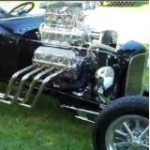 Supercharged, Ford Powered Black T-Bucket Video