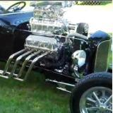 Supercharged, Ford Powered Black T-Bucket
