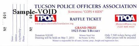 TPOA T-Bucket Raffle ticket