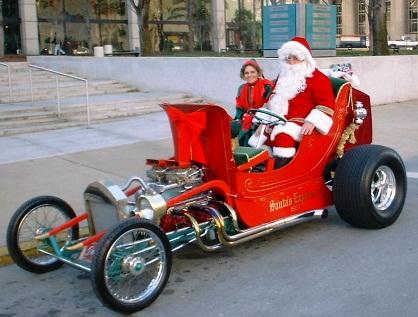 Hot Rod Santa Butch Reeves T-Bucket