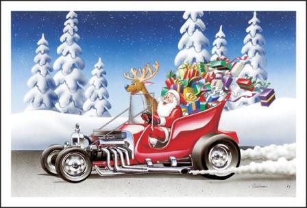 Maybe Santa Claus Really Does Drive a T-Bucket Hot Rod