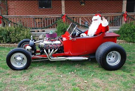 T-Bucket Santa Hot Rod