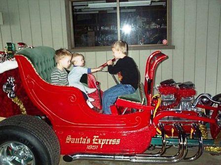 Santa's T-Bucket Hot Rod Roadster Sleigh