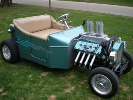 An Electric T Bucket Golf Cart