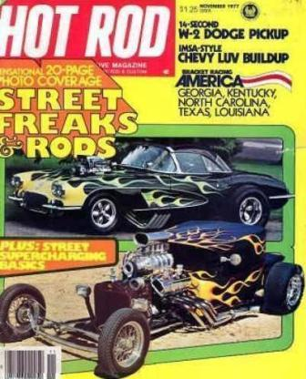 Low Blow T-Bucket Hot Rod November 1977