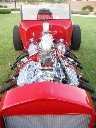 Twin Engine T-Bucket Hot Rod Roadster For Sale