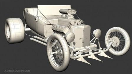 3D T-Bucket Hot Rod by Laurens Corijn