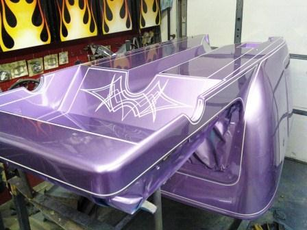 Russ Freund Takeout T bucket body pinstriping