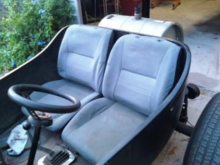 Steve's unfinished T-Bucket project makeover seats