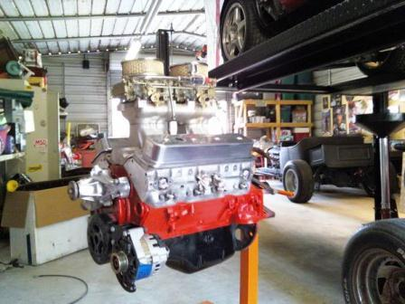 Steve's unfinished T-Bucket project makeover small block Chevy V8