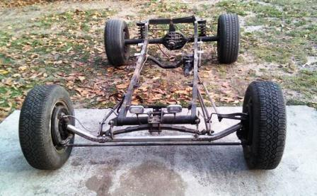 Steve's unfinished T-Bucket project makeover chassis