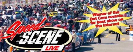 The Speed Scene Racing live TV talk show.