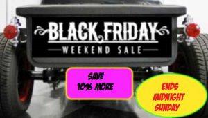 Black Friday Weekend Sale!