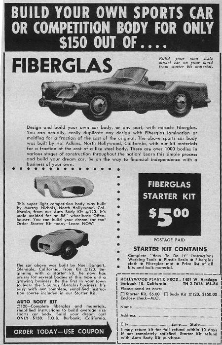 Build a fiberglass body Motor Life August 1954