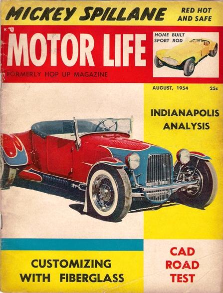 Plastic T-Bucket body Motor Life August 1954