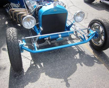 Dale Wigfield T-Bucket opposed coil front suspension