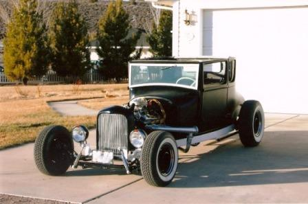 Bob Hamilton 1926 Ford chopped Model T Coupe