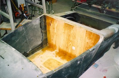 1927 fiberglass t bucket floor installation