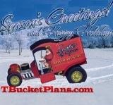 T-bucket Santa Claus Christmas Holiday C-Cab Hot Rod 1