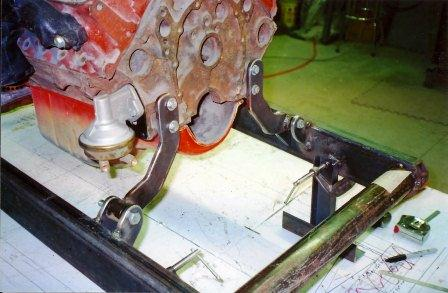 1927 T-Bucket build small block Chevy motor mounts