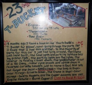 Arly Hayden Budget T-Bucket Car Show Sign