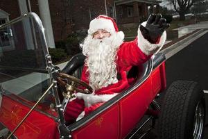 Santa Hot Rod, He Really Drives a T-Bucket Roadster