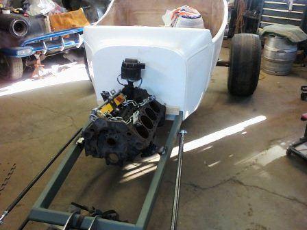 Tara Lubiato Arly Hayden T-Bucket Chevy engine in frame (10)