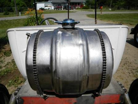 Tara Lubiato Arly Hayden T-Bucket beer keg fuel tank