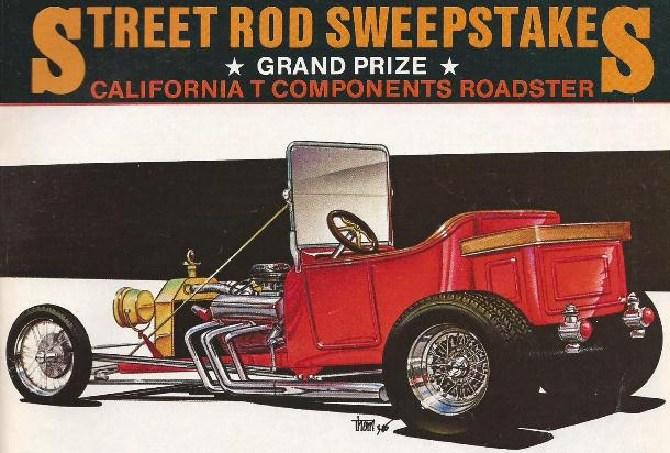 California T Components T-Bucket Street Rodder Sweepstakes
