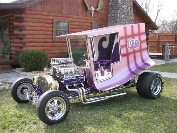Dan Woods custom fiberglass car body Milk Truck T-bucket c-cab