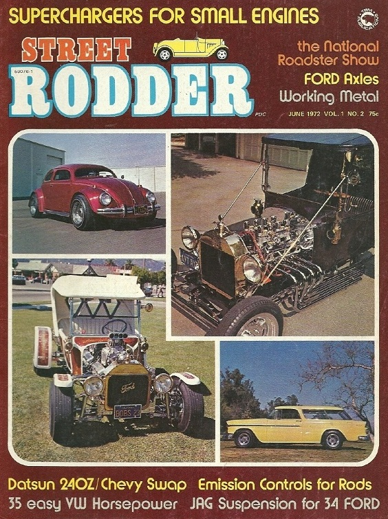 T-Bucket Hot Rods Street Rodder June 1972
