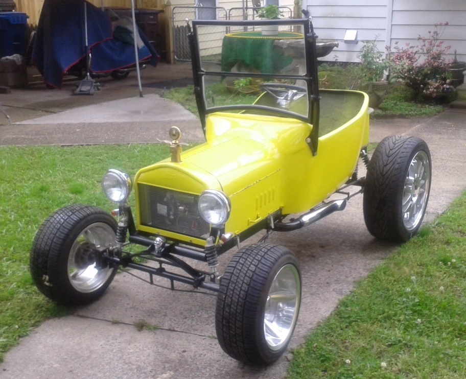 Mini t bucket build by larry matlock with harley power for Golf cart plans