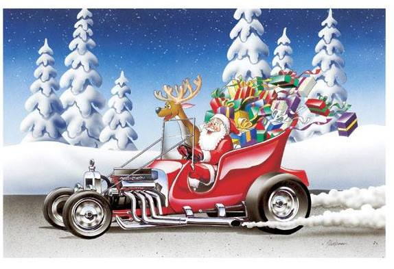 Santa T-Bucket Hot Rod Sleigh
