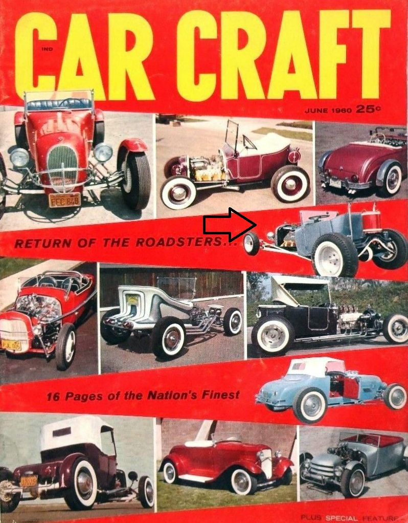 Larry Selmer Mickey Himsl Moonshiner T-Bucket Car Craft June 1960