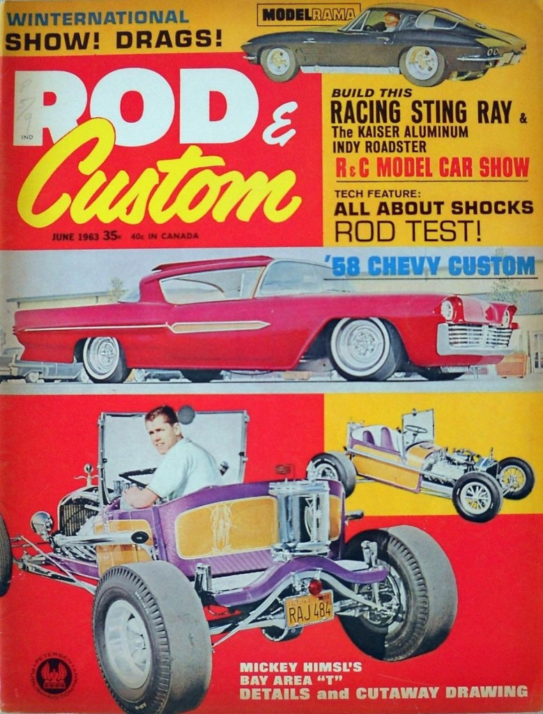 Himsl Moonshiner T-Bucket Rod and Custom June 1963