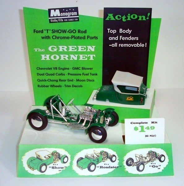Grasshopper Green Hornet Model Display