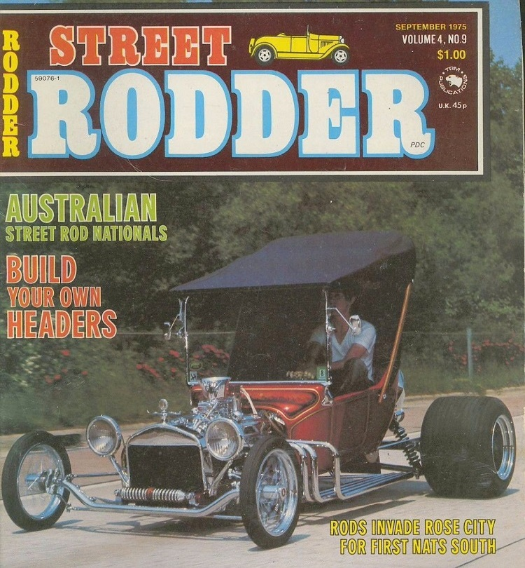 Terry Brown T-Bucket September 1975 Street Rodder magazine