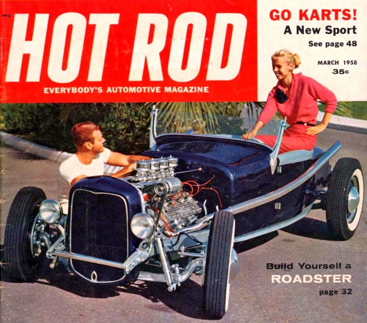 Hot Rod March 1958 Bob Smith 1927 T roadster
